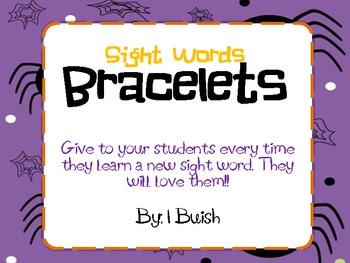 Sight Words Bracelets