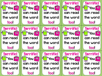 Sight Words Reward Tags EDITABLE (High Frequency Words Reward Tags & Book)