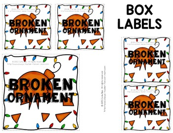 Sight Words - Broken Ornaments Game