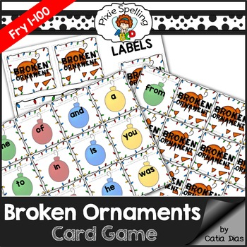 Sight Words - Broken Ornaments Game