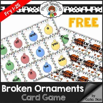 Sight Words - Broken Ornaments Game FREE SAMPLE