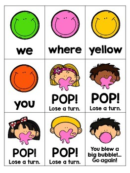 Sight Word Game - Bubble Gum... POP!