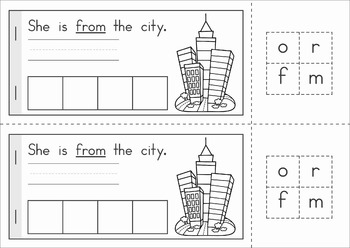 Sight Words Build a Word booklets (Grade 1)