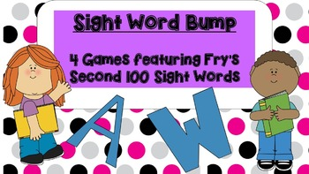 Sight Words Bump Game--Fry's Second 100