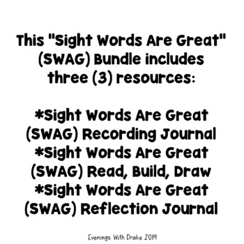 Sight Words Are Great (Bundle)