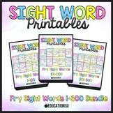 Sight Word Worksheets 1-300 Bundle