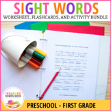 Sight Words Worksheets, Flash Cards, and Activity Bundle Pack