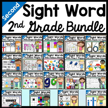 Sight Words Bundle {ALL 19 Second Grade Literacy Centers!}