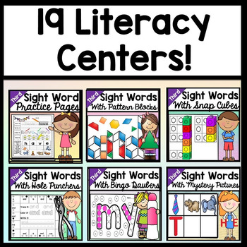 Sight Words Bundle {ALL 19 Third Grade Literacy Centers!}