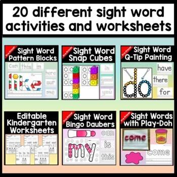 Sight Words Bundle {ALL 19 Kindergarten Literacy Centers!}