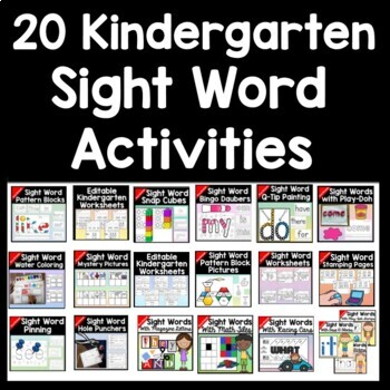 Kindergarten Literacy Centers Bundle {ALL 19 Centers!}