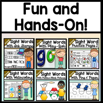 Sight Words Bundle {ALL 19 centers on the Primer Dolch List!}