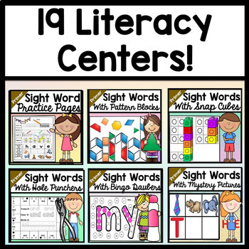 Sight Word Centers Bundle {ALL 19 Centers on the Primer Dolch List!}