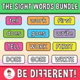 Sight Words Bundle Clipart