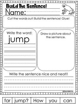 Sight Words Build the Sentence BUNDLE!