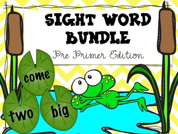 Sight Words Bundle- Pre Primer Edition