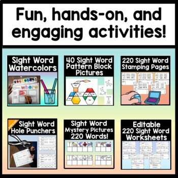 Sight Words Bundle for Charity
