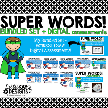 Sight Words Bundle with Seesaw Digital Assessments
