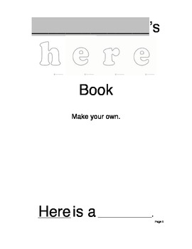 4 Sight Words: Bundled Mini Book and Printables