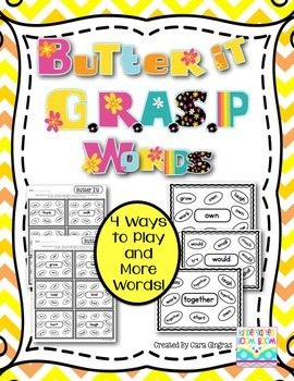 Sight Words - Butter It GRASP Words {Request}