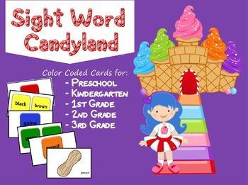 Sight Words Candy Game (Preschool, Kindergarten, 1st, 2nd,