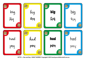 Sight Words Card Game - FREE
