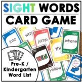 Pre-Primer Sight Word Card Game for Pre-K and Kindergarten