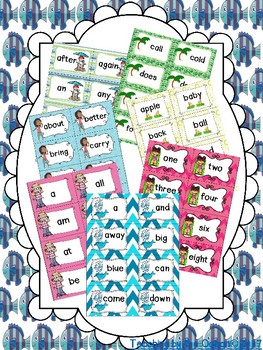 Sight Words Cards Bundle - Summer Themed
