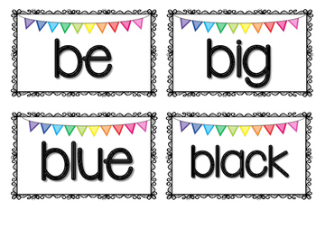 Sight Words Cards for Kindergarten