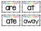 Sight Words Cards for Kindergarten