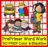 "Sight Words Word Work (28 Cards) ""Dolch Pre-Primer"" 1 in a"