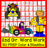 """Sight Words Word Work: Grade 2/3  """"Start Your Engines!"""" Level 4 in a Series of 5"""