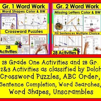 Sight Words BUNDLE 140 Activities-240 Dolch Sight Words NO PREP+Bonus Boom Cards
