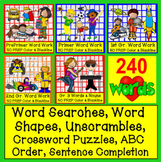 Sight Words BUNDLE 140 Activities-240 Dolch Sight Words NO PREP Color & BW