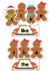 Sight Words Center: Christmas Gingerbread Word Building {EDITABLE PDF}