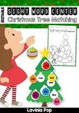 Sight Words Center: Christmas Tree Ornament Matching {EDITABLE PDF}