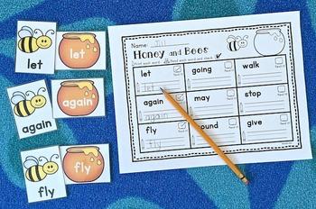 Sight Words Center: First Grade List