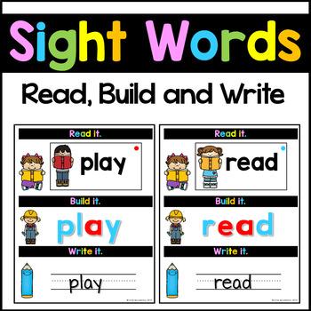 Sight Words Center Kindergarten-Third Grade Words | Word Building Activities