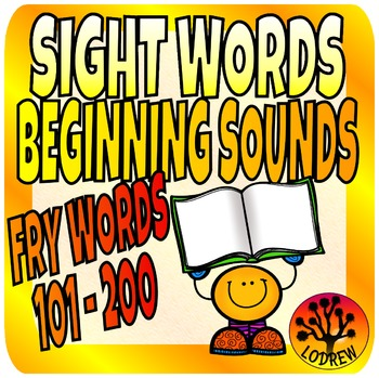 Sight Words Center Literacy No Prep Fry Words 2nd 100 101-200 Beginning Sounds