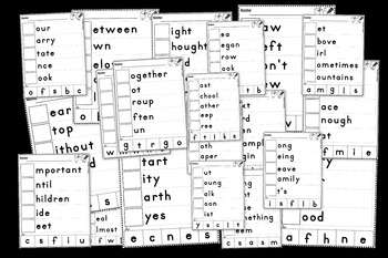 Sight Words Center Literacy No Prep Fry Words Third 100 201-300 Beginning Sounds