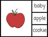 Sight Words Center - Match Words to Pictures