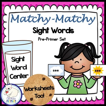 Sight Words Center: Pre-Primer List