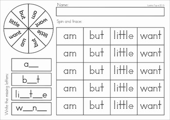 Sight Words Center (Primer Words)