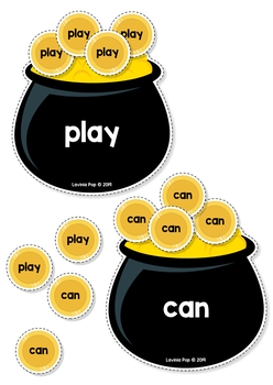 Sight Words Center: St. Patrick's Day Pot of Gold Sight Word Sort {EDITABLE PDF}