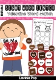 Sight Words Center: Valentine Chocolates Word Match {EDITABLE PDF}