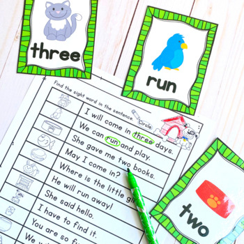 Sight Words Center: Write the Room Pre-Primer List