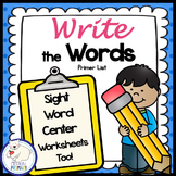 Sight Words Write the Room: Primer List