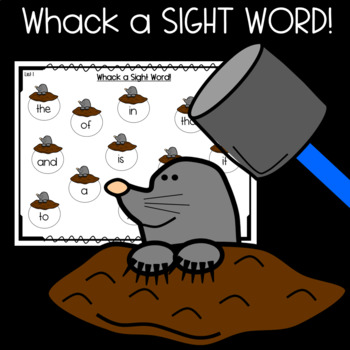 Sight Words Center and Game- Whack a Sight Word