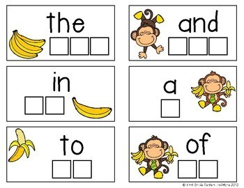 Sight Words Center using Bananagrams Fry Words 1-100