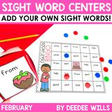 Sight Words Centers EDITABLE!  February